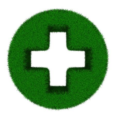 addition: Symbol plus on white background. Isolated 3D image