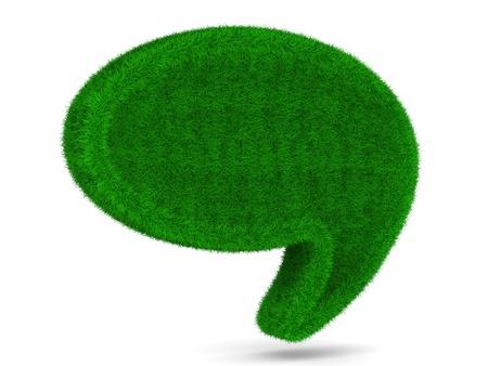environmental conversation: talk balloon on white background. Isolated 3D image Stock Photo