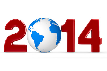 2014 new year. Isolated 3D image photo