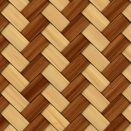 basket weaving: Abstract decorative wooden textured basket weaving. 3D image
