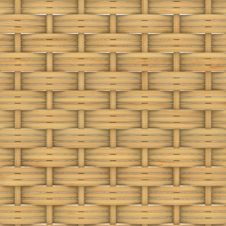 rattan mat: Abstract decorative wooden textured basket weaving. 3D image