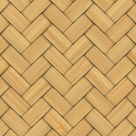 Abstract decorative wooden textured basket weaving. 3D image photo