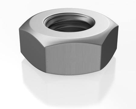 dag: Nut on white background. Isolated 3D image