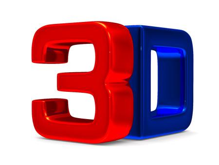 3D symbol on white  photo