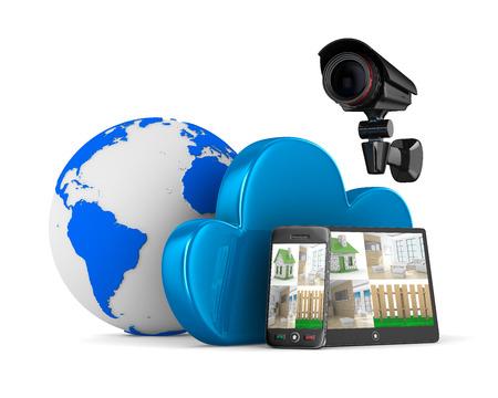 observation: Video observation system. Isolated 3D image
