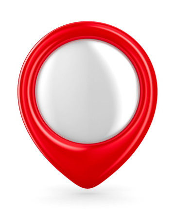 alertness: Red marker on white background. Isolated 3D image Stock Photo