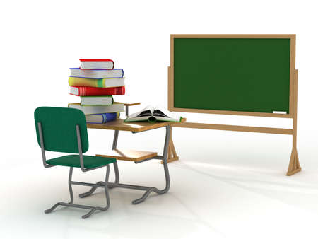 furnishing: School interior. The training concept. 3D image.