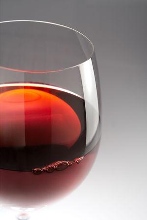nebbiolo: Glass of still red wine ready to taste