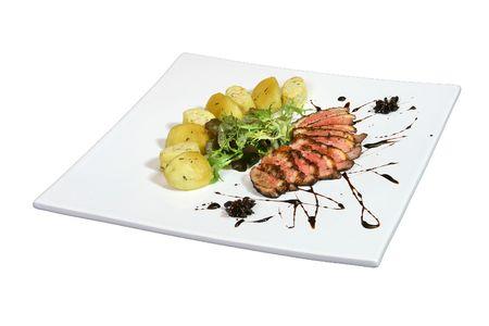 Gevarieerd menu van het restaurant Steak House