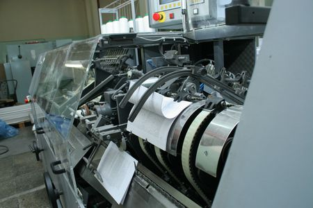 Different printed machines and polygraphic equipment photo