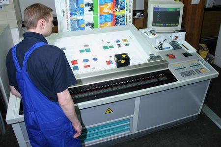 Verschillende gedrukte machines en uitrusting polygraphic
