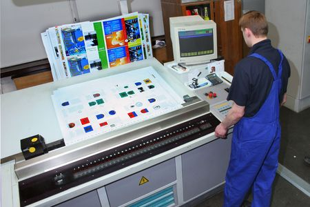 Different printed machines and polygraphic equipment Stock Photo - 561338