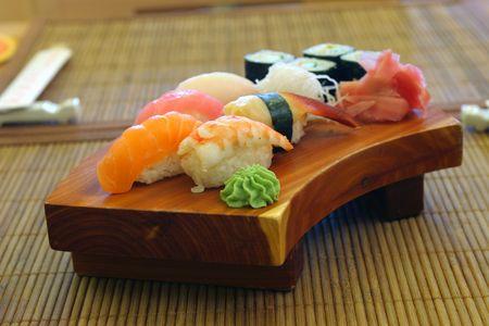 Interieur en menu-Japans restaurant Stockfoto
