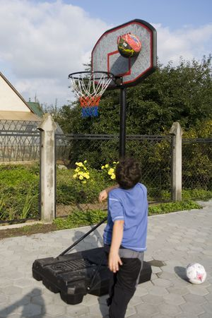 Active boy game of basketball Stock Photo - 561233