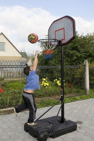 Active boy game of basketball Stock Photo - 561232
