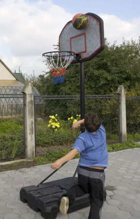 Active boy game of basketball Stock Photo - 561231