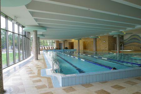 Pool, actie, aquatische, athelete, zwemmen, Stockfoto