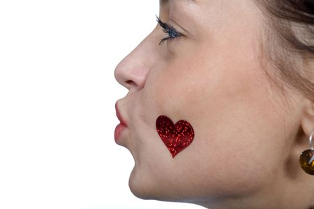 love kissing: heart, love, kissing, valentines Stock Photo