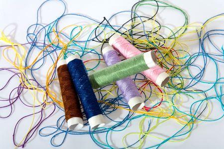 crafty: dressmaker object on white background Stock Photo