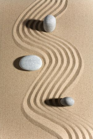 Stone garden in a zen style photo