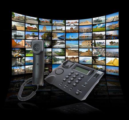 Skype-technologie concept. Zie portfolio voor soortgelijke Images Stockfoto
