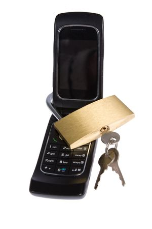Blocked mobile phone with  lock Stock Photo - 5024627