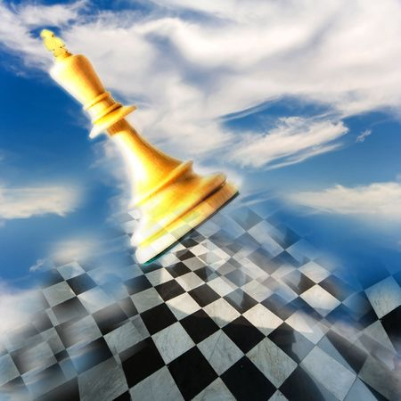 Chess composition on  background photo