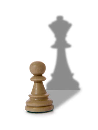 pawn: Chess composition isolated on white background Stock Photo