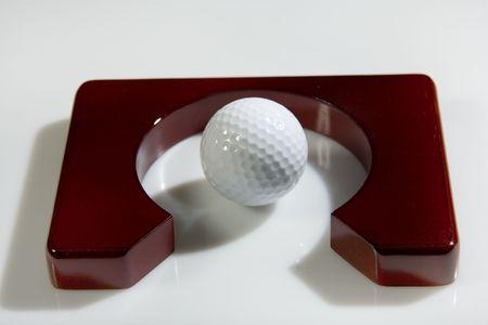close range: Office golf - golf ball  Stock Photo