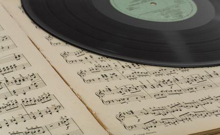 vintage musical background photo