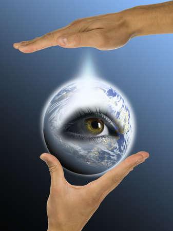 ecologie, de handen, verantwoordelijkheid
