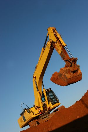 buildingsite: Heavy earth moving equipment