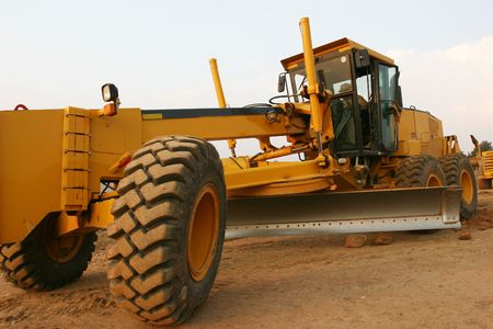 buildingsite: Grader heavy earth road construction
