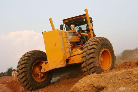 Grader road construction machine