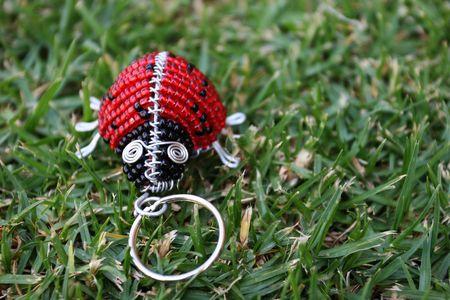 keyring: Metal ladybug on a keyring