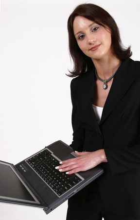 Businesswoman working on her computer Stock Photo - 233881