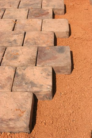 Patterns of paving stones Stock Photo