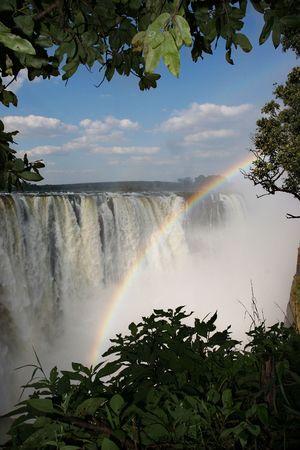 Victoria waterfall Stock Photo