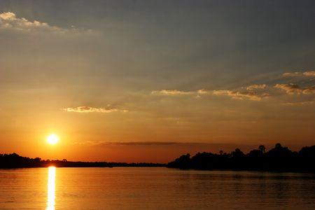 simbabwe: Sonnenuntergang in Simbabwe Lizenzfreie Bilder