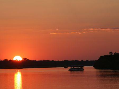 simbabwe: Sonnenuntergang in Simbabwe