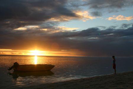 Sunset over Mauritius