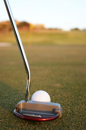 putter and golfball Stock Photo