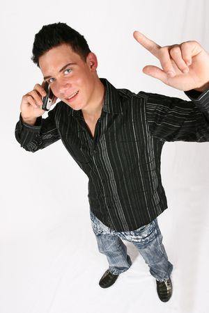 A portrait of a confident businessman on his phone photo