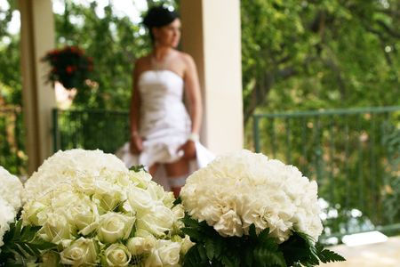 Bride on her big day