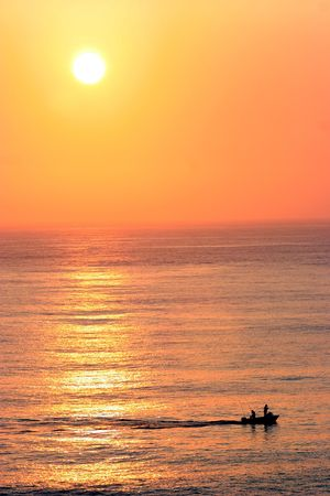 Beautiful sunset over the ocean Stock Photo - 306531
