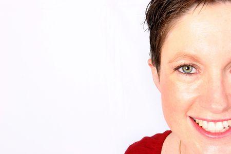 Woman giving you half a smile Stock Photo - 344511