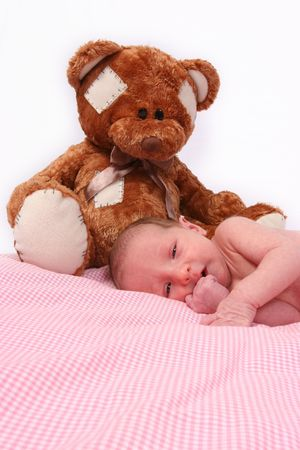 Newborn Baby on her first photo shoot! Stock Photo - 344532