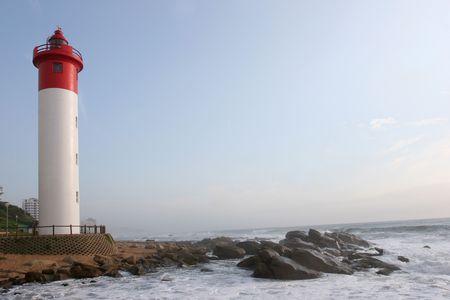 Lighthouse guarding the coastline