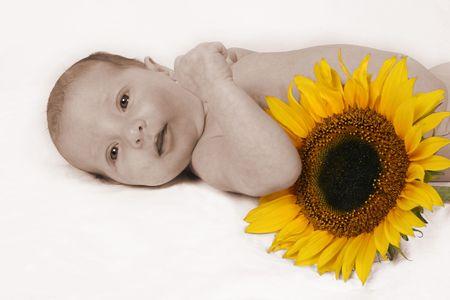 Newborn Baby on her first photo shoot! Stock Photo - 344520