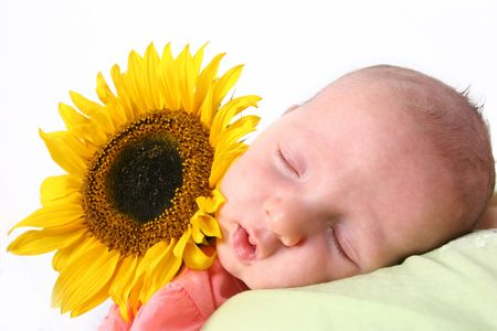 Young baby in dreamland